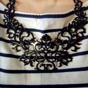 Jewelry - NEW Black statement trendy necklace bib